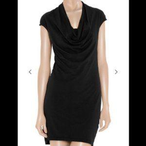 Anthro Splendid Black Jersey Knit Cowl Neck Dress